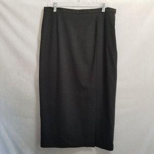 Apostrophe Pencil Skirt Gray Front Slit Size 16P